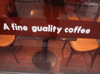 A fine guality coffee